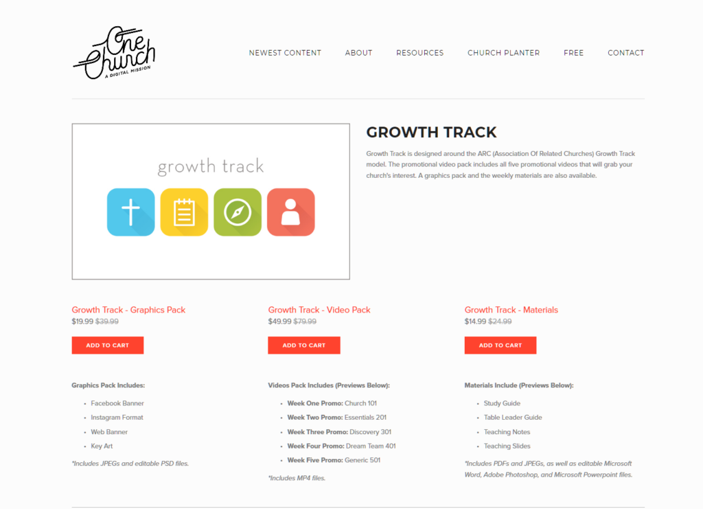 Screenshot 2021 01 07 Growth Track — One Church Resource Curriculum for church groups Curriculum for church groups