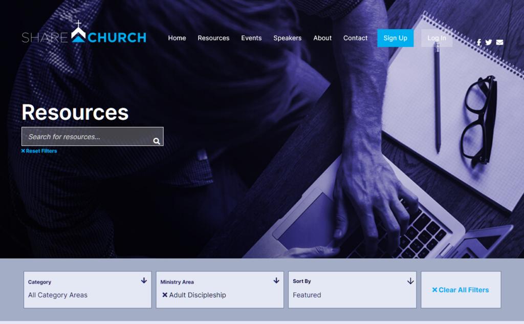 Screenshot 2021 01 07 Resource Library ShareChurch Curriculum for church groups Curriculum for church groups