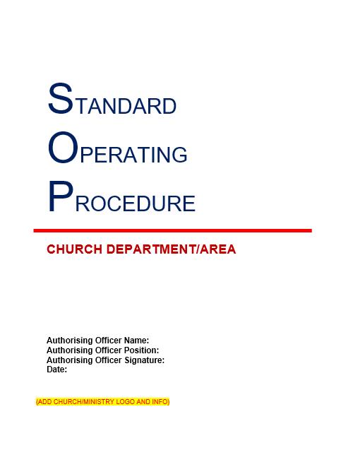 Church SOP Template